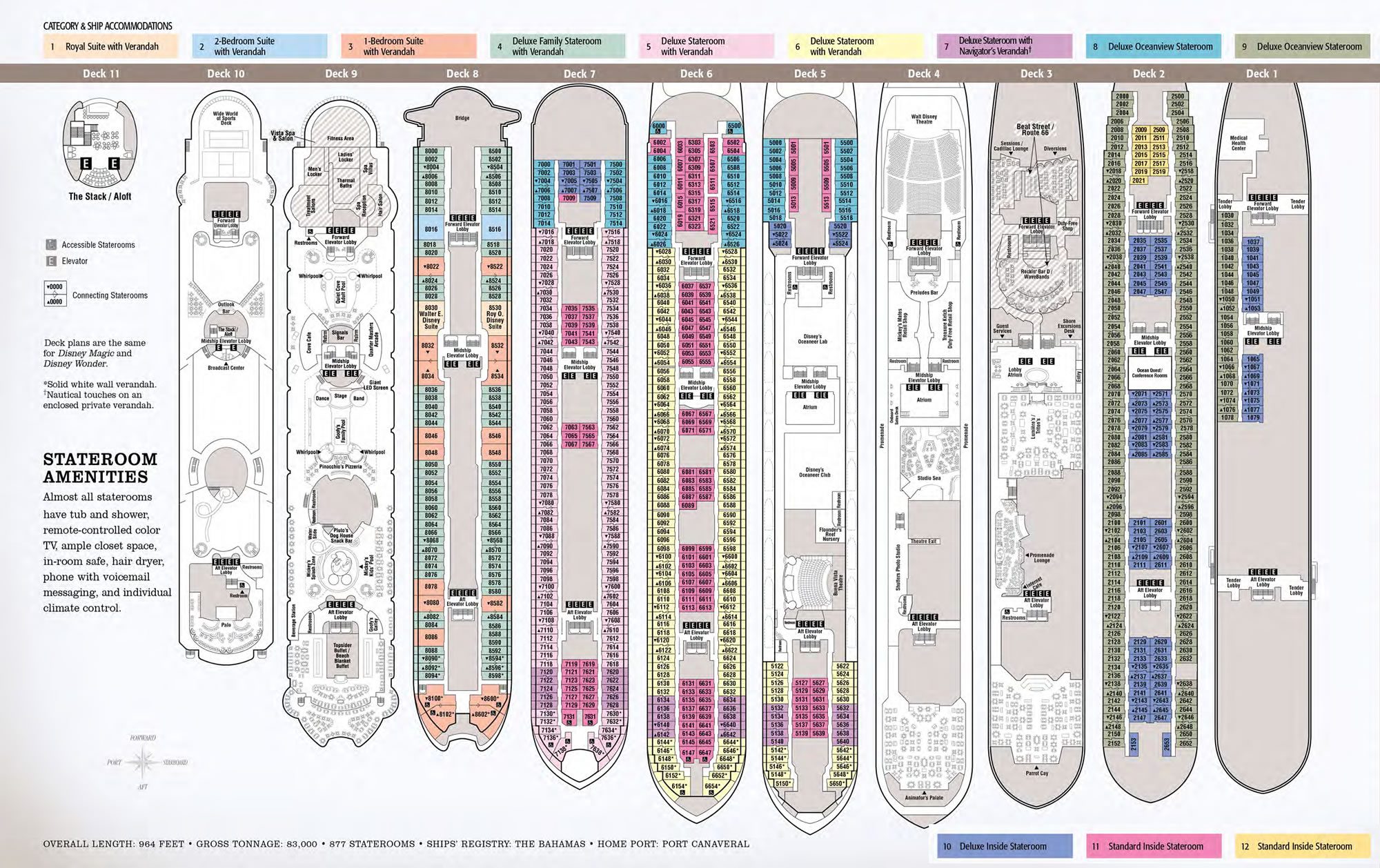 Disney Wonder Amp Disney Magic 2010 Deck Plans Off To